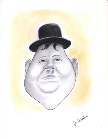 Oliver Hardy by ash